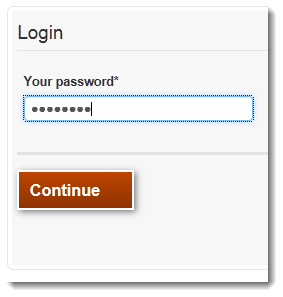 Image of second page of login form